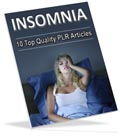 Insomnia PLR articles