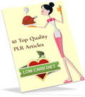 Low Carb Diet PLR articles for you