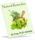 free natural remedies PLR articles